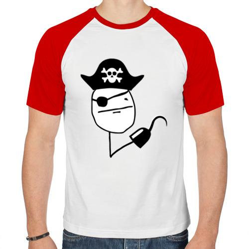 Мужская футболка реглан  Фото 01, покер фейс пират