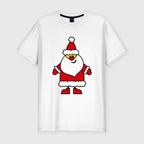 Мужская футболка премиум  Фото 01, Веселый Дед Мороз