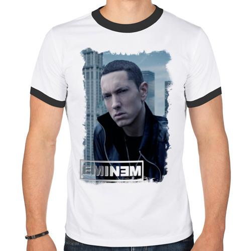 """Мужская футболка-рингер """"Еminem, rap"""" - 1"""