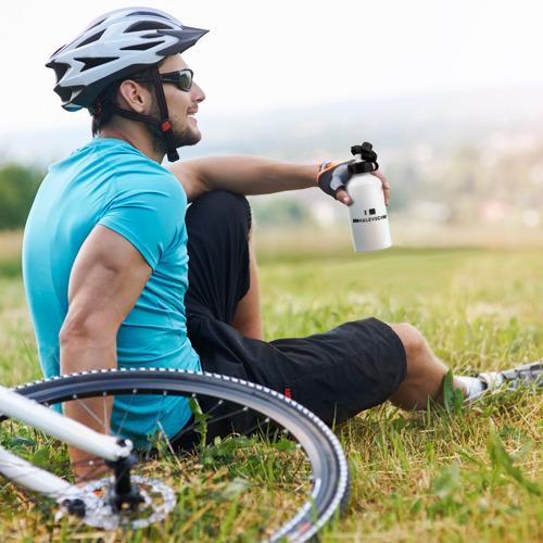 Бутылка спортивная  Фото 05, Квадрат малевча я люблю