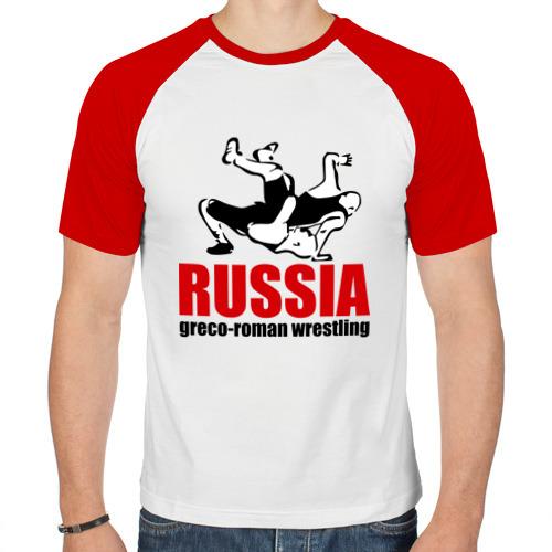 Мужская футболка реглан  Фото 01, Russia greco-roman  wrestling