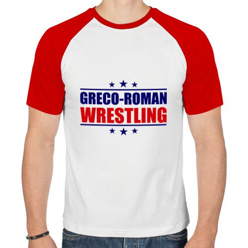 Мужская футболка реглан  Фото 01, Greco-roman wrestling, звезды