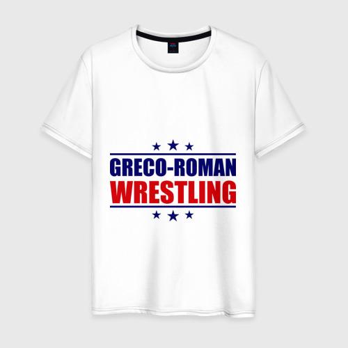 Мужская футболка хлопок Greco-roman wrestling, звезды