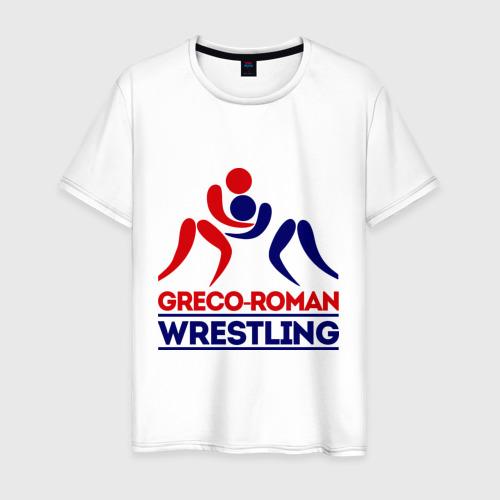 Мужская футболка хлопок Лого - борцы