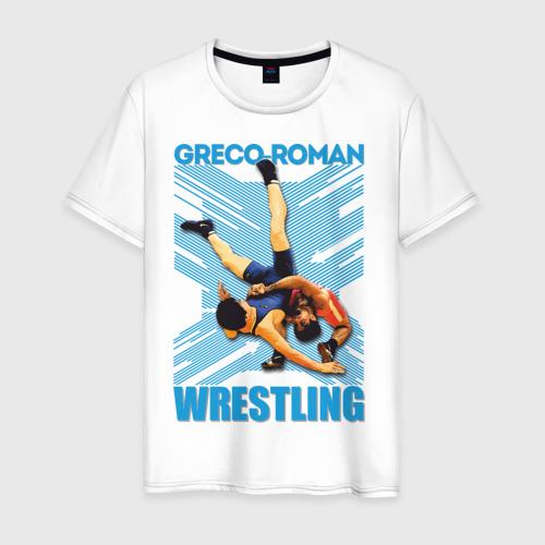 Мужская футболка хлопок Спортивная греко-римская борьба