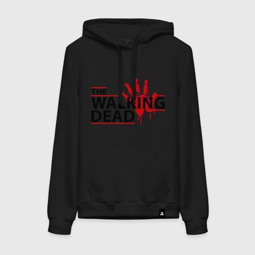Женская толстовка хлопок The Walking Dead, кровавый след