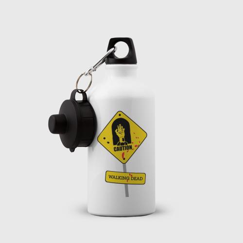 Бутылка спортивная  Фото 03, Caution - Walking dead