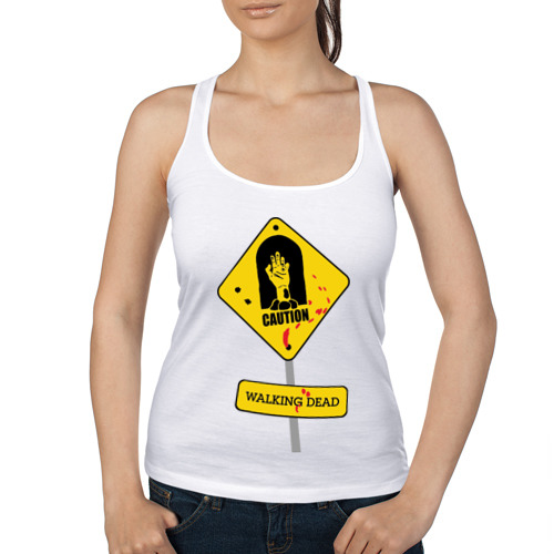 Женская майка борцовка  Фото 01, Caution - Walking dead