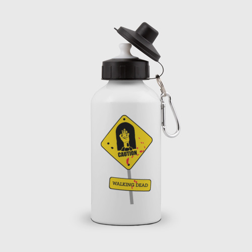 Бутылка спортивная  Фото 01, Caution - Walking dead