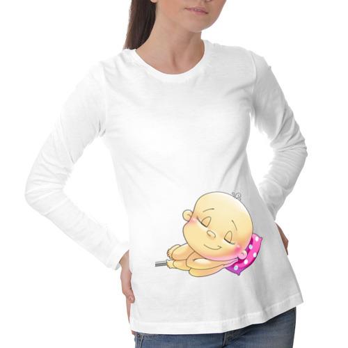 """Футболка для беременных с длинным рукавом """"Моё богатство"""" - 1"""