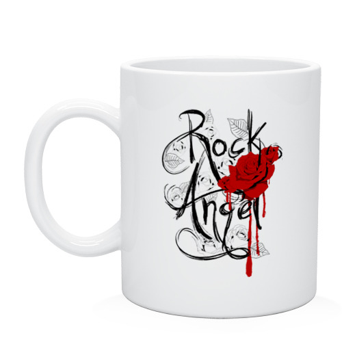 "Кружка ""Rock angel red rose"" - 1"