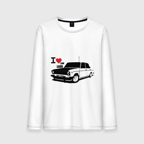 """Мужская футболка с длинным рукавом """"I Love low lada"""" - 1"""