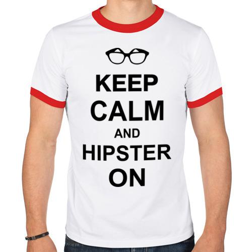 Мужская футболка рингер  Фото 01, Hipster on
