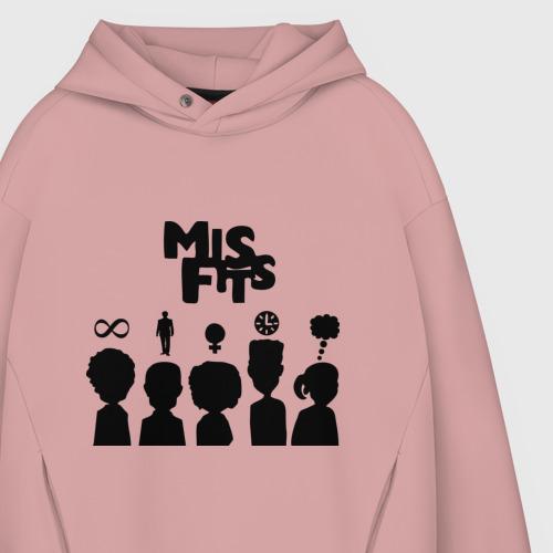 Мужское худи Oversize хлопок Misfits:Отбросы Фото 01