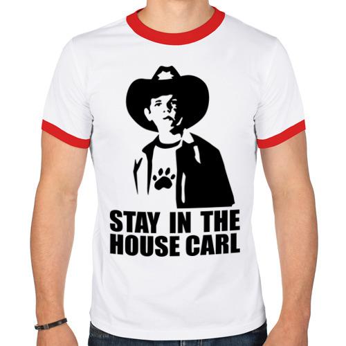 Мужская футболка рингер  Фото 01, Walking dead - stay in the house Carl