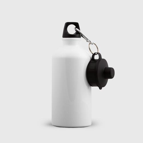 Бутылка спортивная  Фото 04, Лис на черном фоне