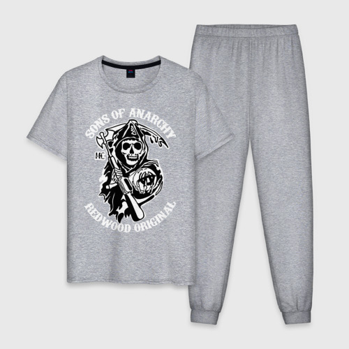 Мужская пижама хлопок Sons of anarchy logo Фото 01