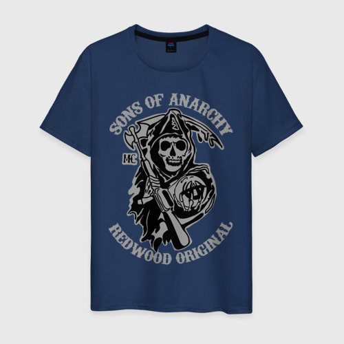 Мужская футболка хлопок Sons of anarchy logo Фото 01