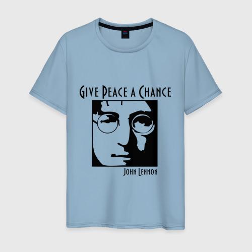 Мужская футболка хлопок John Lennon (Джон Леннон) Give Peace a Chance Фото 01