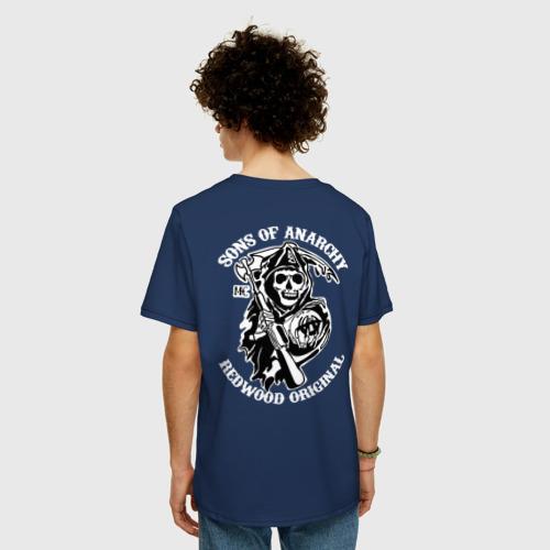 Мужская футболка хлопок Oversize Sons of anarchy back Фото 01