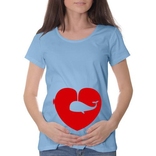 Футболка для беременных хлопок  Фото 01, Кит-в-сердце