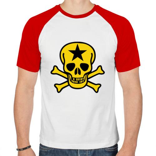 Мужская футболка реглан  Фото 01, Череп со звездой