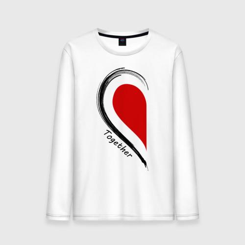 """Мужская футболка с длинным рукавом """"Together forever first"""" - 1"""