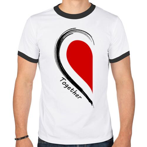 "Мужская футболка-рингер ""Together forever first"" - 1"