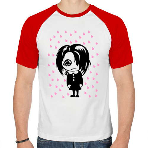 Мужская футболка реглан  Фото 01, Эмо и дождик