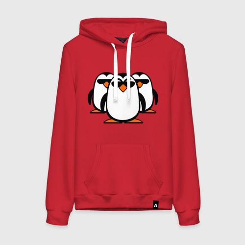 Женская толстовка хлопок Банда пингвинов