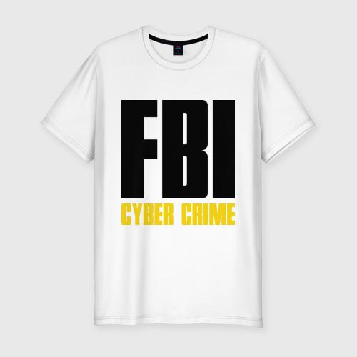 Мужская футболка премиум FBI - Cyber Crime
