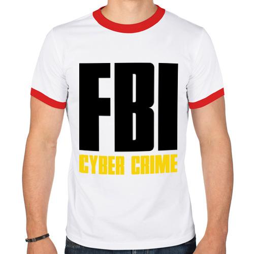 Мужская футболка рингер  Фото 01, FBI - Cyber Crime