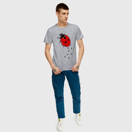 Мужская футболка хлопок Реалистичная божья коровка Фото 01