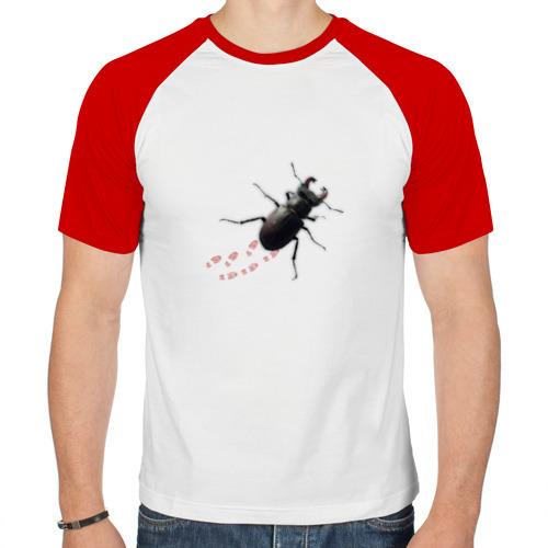 Мужская футболка реглан  Фото 01, Реалистичный жук 2