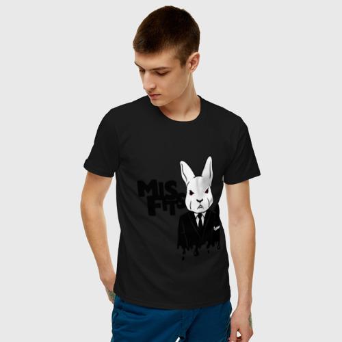 Мужская футболка хлопок Кролик misfits Фото 01