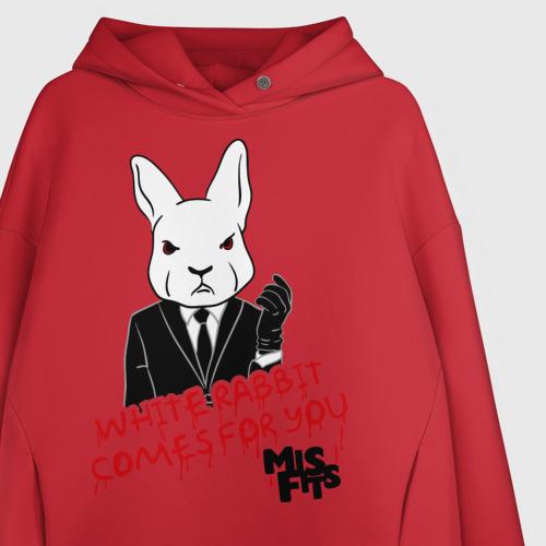 Женское худи Oversize хлопок Rabbit misfits Фото 01
