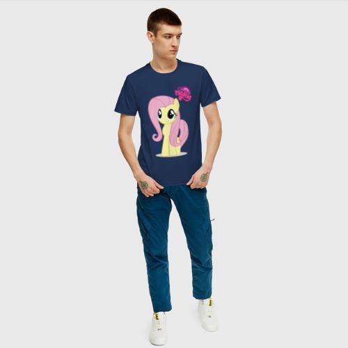 Мужская футболка хлопок Малаенькая Флаттершай Фото 01