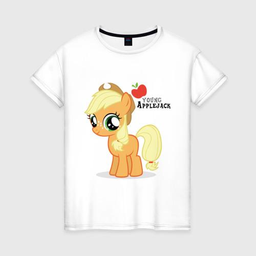 Женская футболка хлопок Маленький эплджек Фото 01