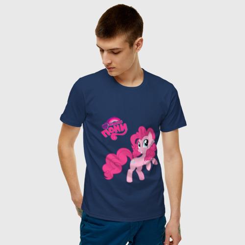 Мужская футболка хлопок Малышка Пинки Пай Фото 01
