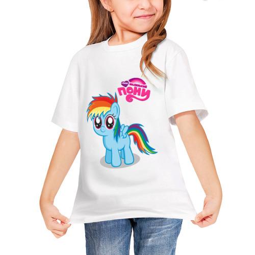 Детская футболка синтетическая Малышка Рейнбоу Дэш