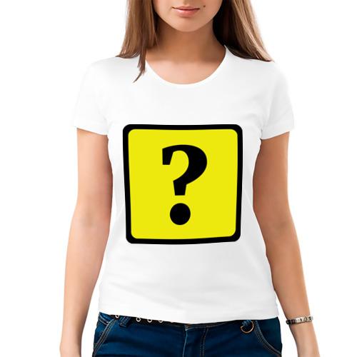 Женская футболка хлопок  Фото 03, Дорожный знак вопроса