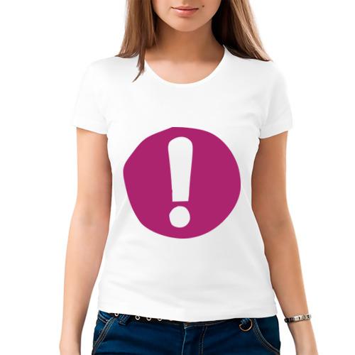 Женская футболка хлопок  Фото 03, Восклицательный знак на плашке