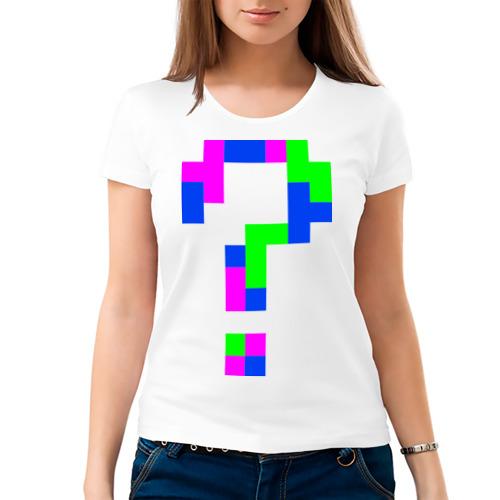 Женская футболка хлопок  Фото 03, Пиксельный вопрос