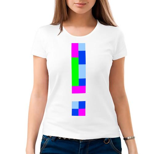 Женская футболка хлопок Пиксельный ответ