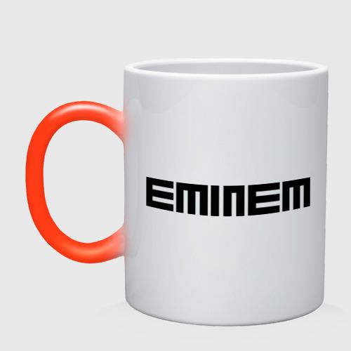 Кружка хамелеон  Фото 01, Eminem black logo