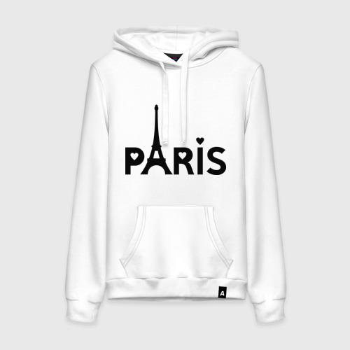 Женская толстовка хлопок  Фото 01, Paris logo
