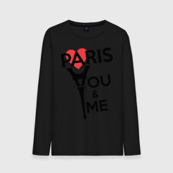 Paris. You and me. Red heart