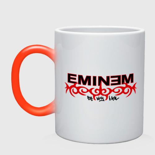 Кружка хамелеон Eminem узор