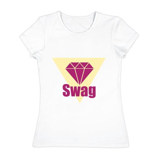 Женская футболка хлопок  Фото 01, Swag pink