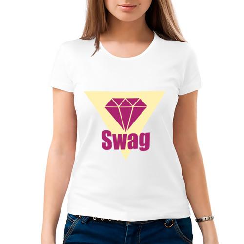 Женская футболка хлопок  Фото 03, Swag pink